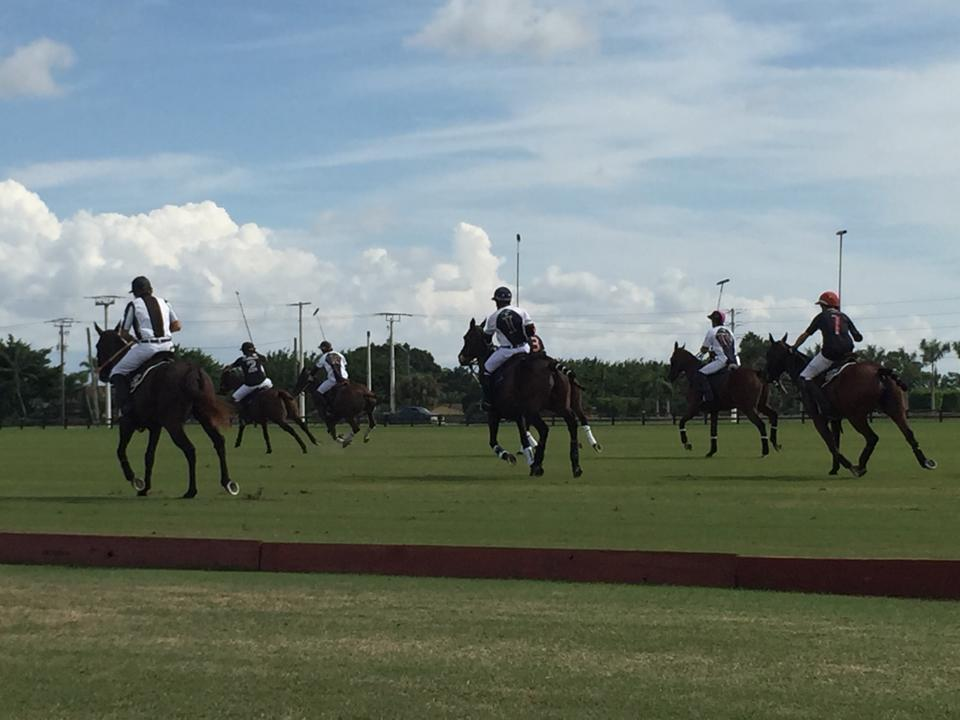 Audi ran over Dutta Corp. 13-9 in the tournament opener. (Photo courtesy of ChukkerTV)