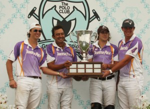 2015 USPA North American Cup winners- (L to R)-Tony Calle, J.J. Celis, Facundo Obregon and Jesse Bray. (Photo by Alex Pacheco)