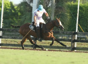 Travieso 5-goaler Jesse Bray gagve is team the lead in the final chukker of regulation play. but his team couldn't hold on, losing toe FexJet in overtime in a semifinal match of the USPA National Twenty-Goal Championship Sunday afternoon at the Grand Champions Polo Club.  (Photo by Alex Pacheco)