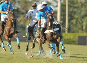MVP Matt Coppola scored the tying goal and earned MVP honors in the Horseware/5Star/Tackeria overtime win in Ylvisaker Cup play Sunday afternoon at the International Polo Club. (Photo by Alex Pacheco)