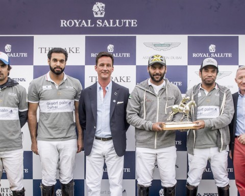 Duke of Argyll with Desert Palm - Winners of the Royal Salute UAE Nations Cup 2016 LOW RES