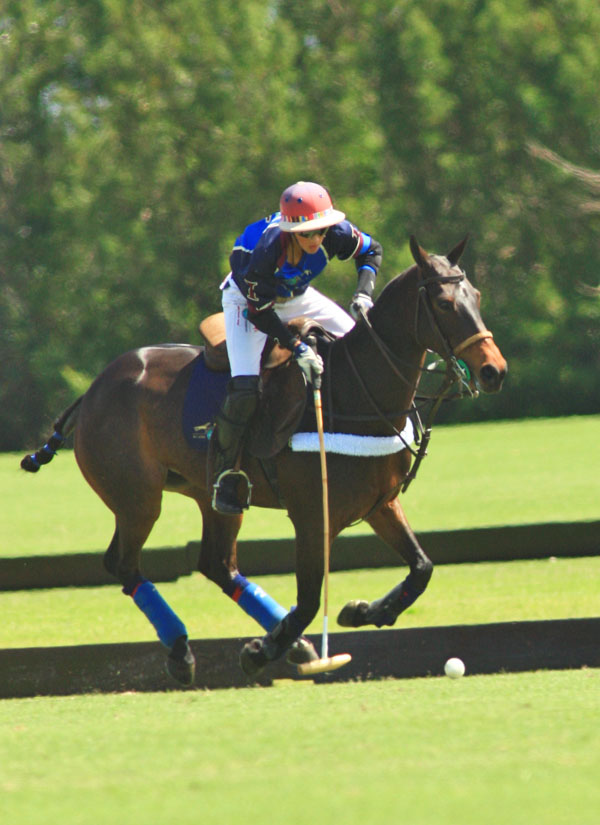 Timmy Dutta scored six goals in leading Dutta Corp. to an 11-6 win Friday afternoon in Memorial Cup play at the Grand Champions Polo Club. (Photo by Alex Pacheco)