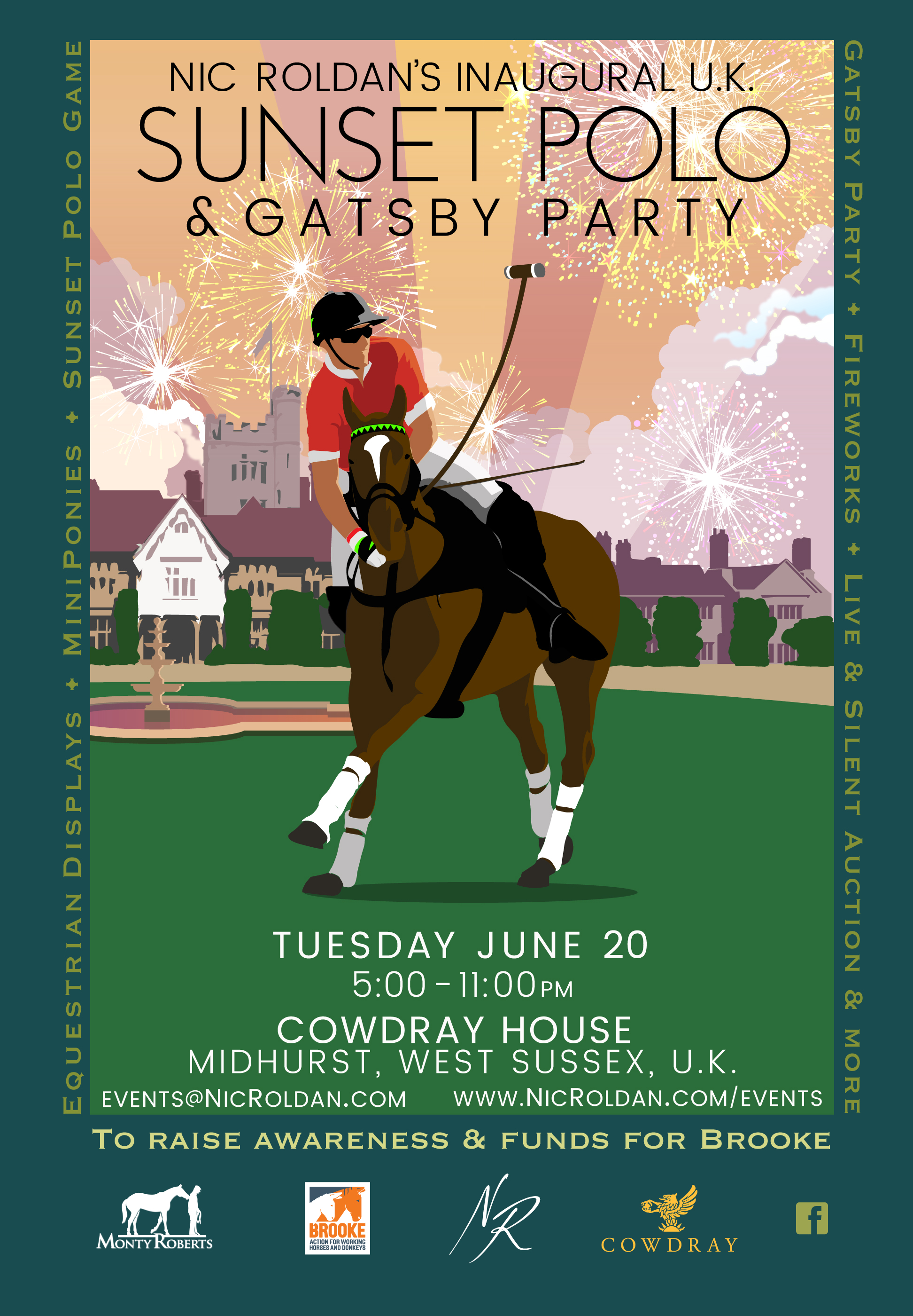 Nic Roldan's Inaugural UK Sunset Polo at Cowdray